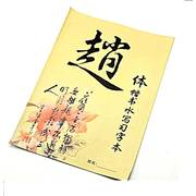 Zhao Style Magic Water Calligraphy Practice Book Reusable Paper