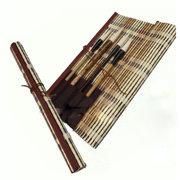 <em>Chinese</em> Japanese Brush Holder Brush Roller with Pockets