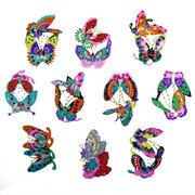Assorted <em>Chinese</em> Handmade Paper Cut: Colorful Butterflies