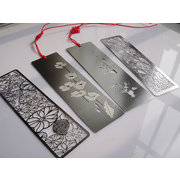 BM001 steel oblong-shaped bookmark of Chinese style with envelopes