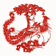 Chinese Chinese Chinesefolk paper cut of phoenix NO.4