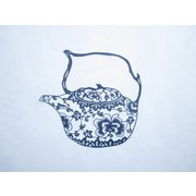 <em>Chinese</em> Paper Cut Blue Tea Pot