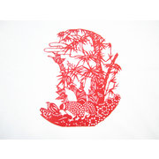 <em>Chinese</em> Paper Cut of plum blossoms, orchid, bamboo and chrysanthemum