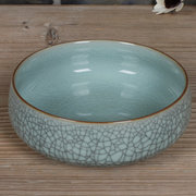 Dragon Well Porcelain <em>Brush</em> Wash with Crackle Effect 15 cm Diameter