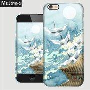 mobile phone shell of white crane
