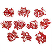 red handmade paper-cut of goldfish