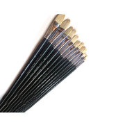G17202 Marie's single pig hair oil painting stick with round head and flat tip  NO. 2