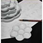 <em>Chinese</em> Ceramic Palette 4 Inch Diameter