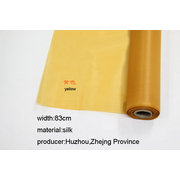 SLK001 1 Meter of Chinese Processed Silk for Painting or <em>Calligraphy</em> Yellow  width 83cm