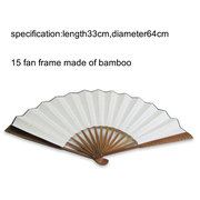 XPf001 bamboo fan of rice paper