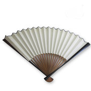 XPf007  rice paper ebony fan from Anhui