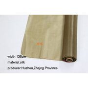 SLK008  1 Meter of Chinese Processed Silk for Painting or Calligraphy Tea Color  Width 138cm