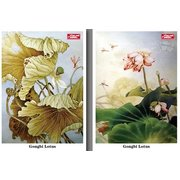 Chinese Delicate Paiting: Lotus  Set of 8 Postcards PSC072