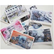 Wuzhen Sketches Set of 8 Postcards PSC035