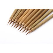 No.<em>3</em> Wolf Hair Outlining Sumie Brushes Pack of 10